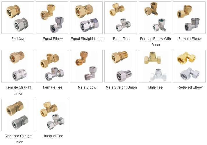 Brass fittings for PEX-AL-PEX