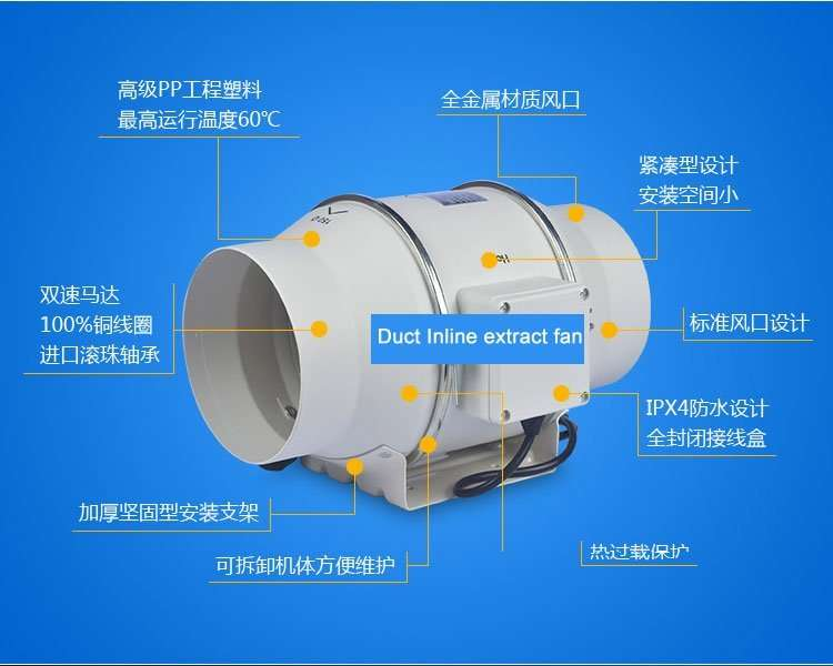 Duct Inline Extract Fan Manufacturer Supplier China