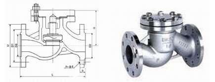Non-return valve dimension