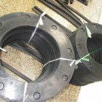 Rubber sealing for flange