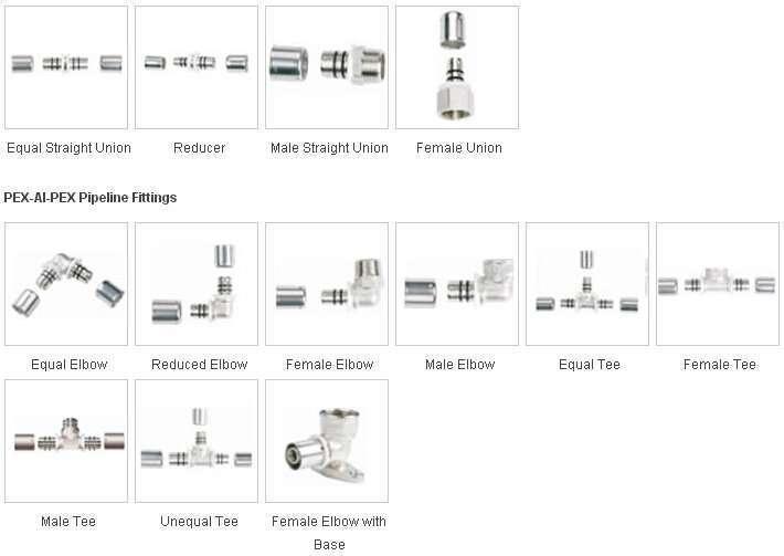 Pex Al Pex Pipe Fittings Manufacturer Supplier China