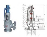 flange type spring safe valve