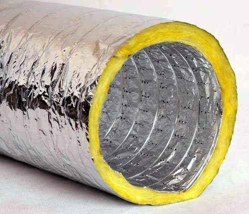 Acoustic Aluminium Flexible Round Duct