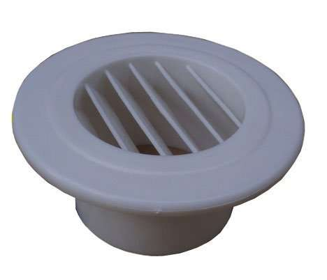 Round plastic louvre air outlet