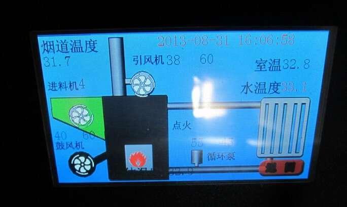 Water heating pellet stoves panel screen