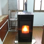 Water heating pellet stoves with boiler