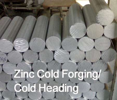 Zinc cold forging parts,Cold heading Zinc accessory