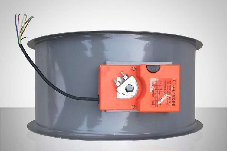 Circular electric Fire Damper