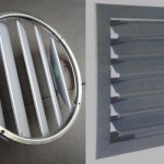 Gravity outlet grille,Self-regulating louvre shutter