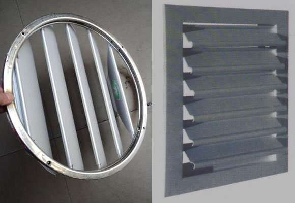 Gravity Outlet Grille Self Regulating Louvre Shutter