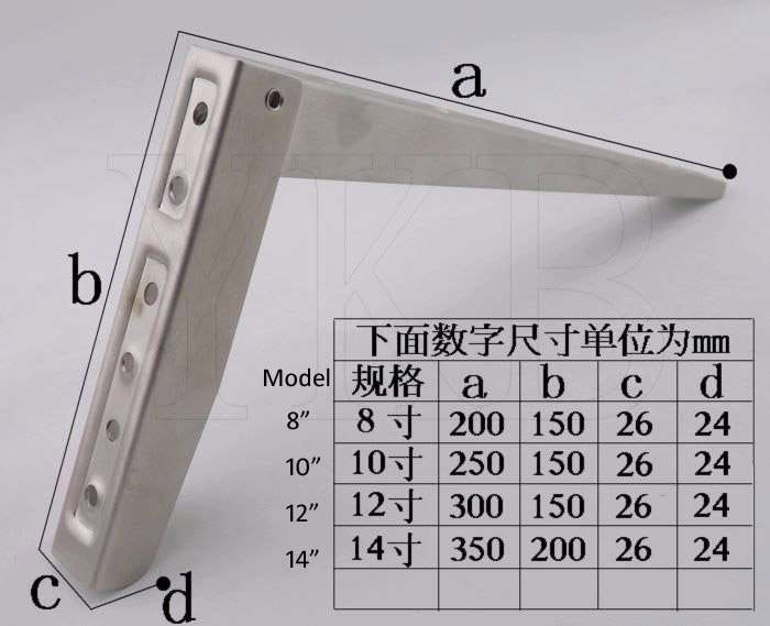 SS bracket size
