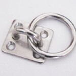 Stainess steel square eye plate with round ring 38