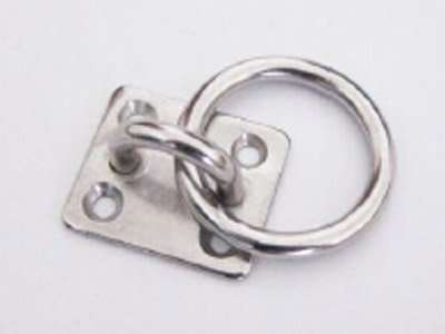 Stainess steel square eye plate with round ring