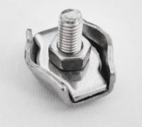 Stainless Steel Simplex Wire Rope Clip Cable Clamp Single Bolt