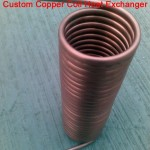 Copper tube coil immersion heat exchanger