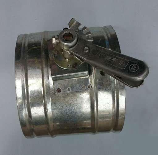 galvanized round volume control damper