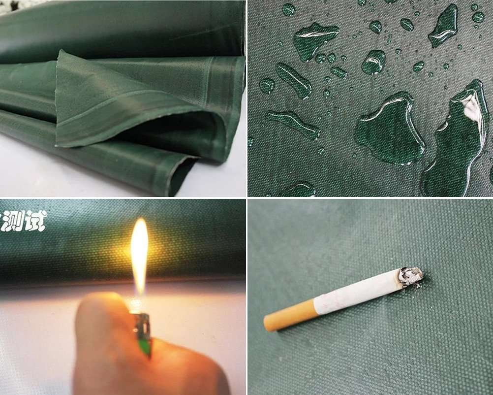 green Fire resistant fabric