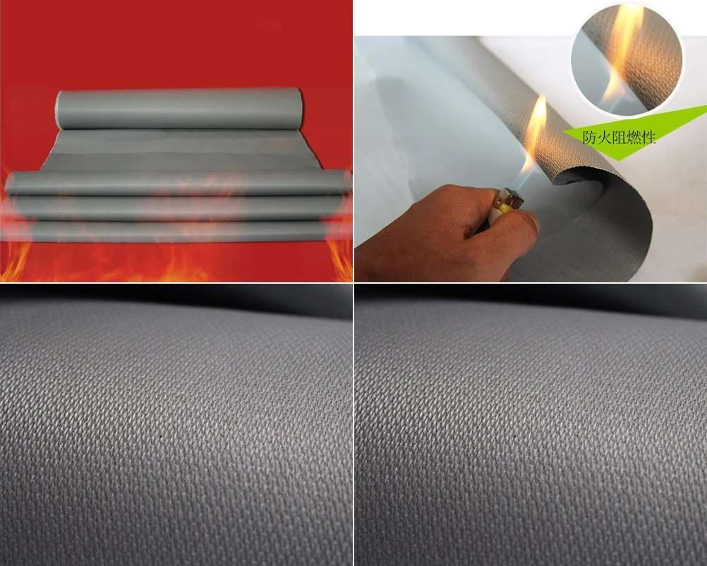 grey anti fire soft fabric clothing