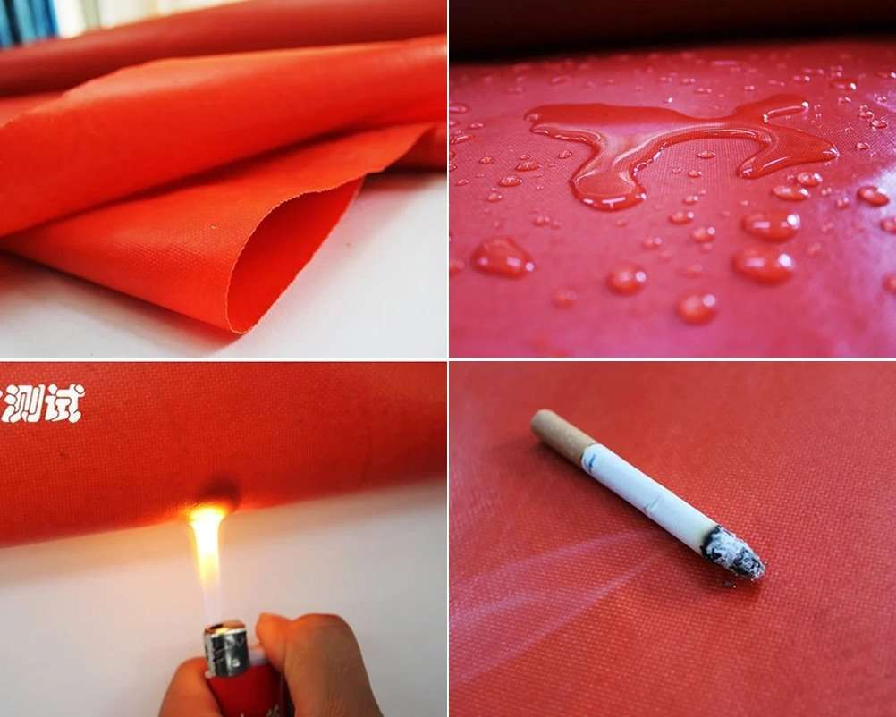 red anti flame fabric cloth
