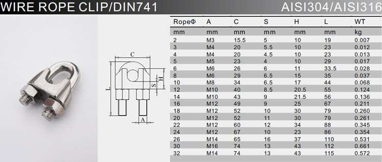 stainless-steel-wire-rope-clip-specification