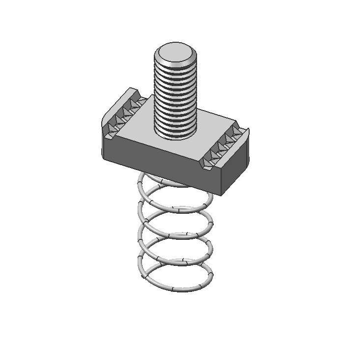 Long Spring Nut With Stud