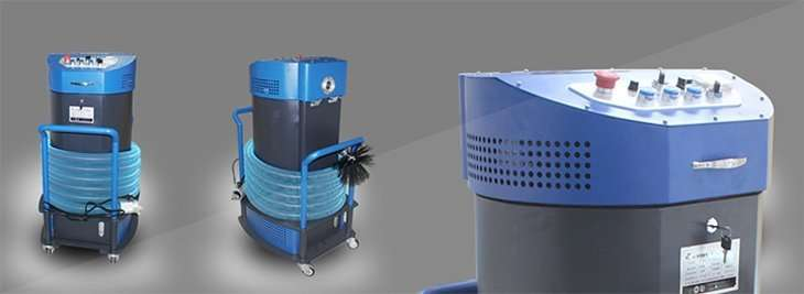 Rotary brush air duct cleaning equipment