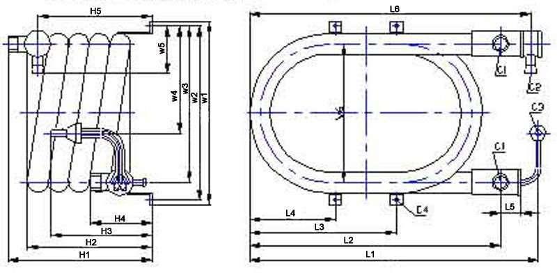 Sea water coaxial heat exchanger parameter