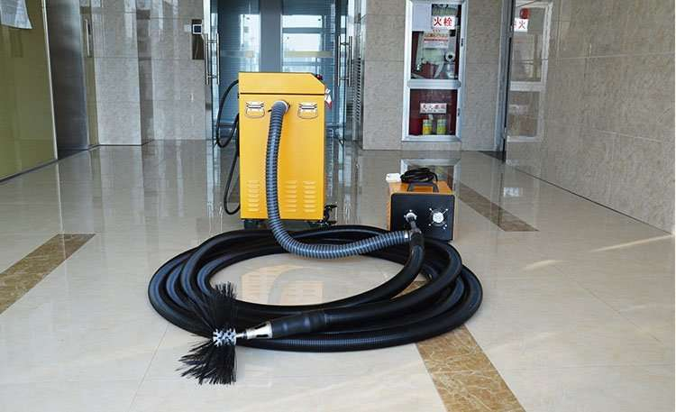 Rotary brush with dust vacuum extractor 2 in 1 air duct cleaning machine 12