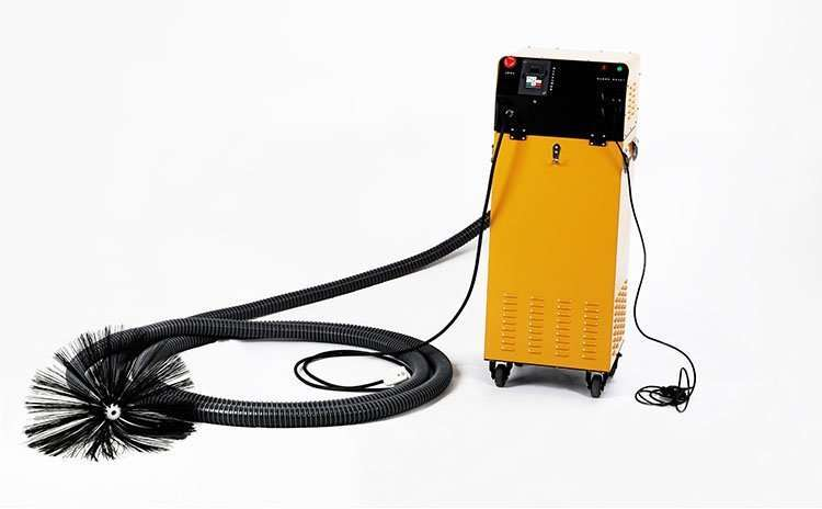 Rotary brush with dust vacuum extractor 2 in 1 air duct cleaning machine 26