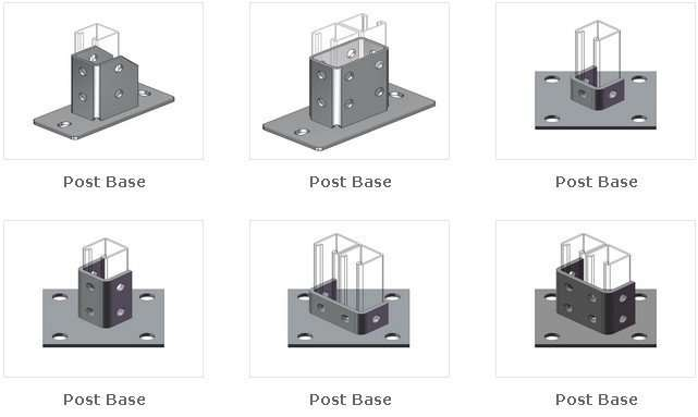 Unistrut Channel post bases