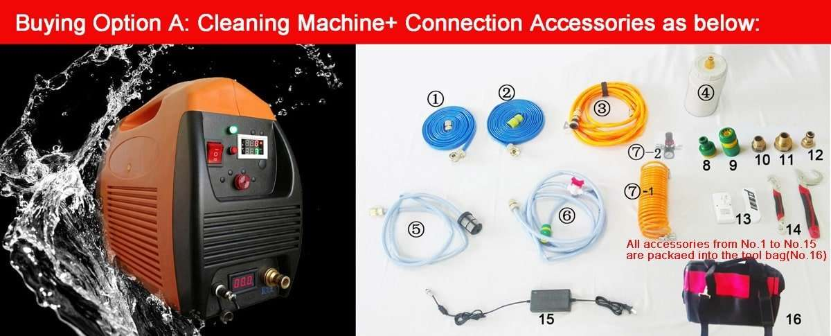 Water Pipe Cleaning Equipment,Descaling water pipe tool kit 1