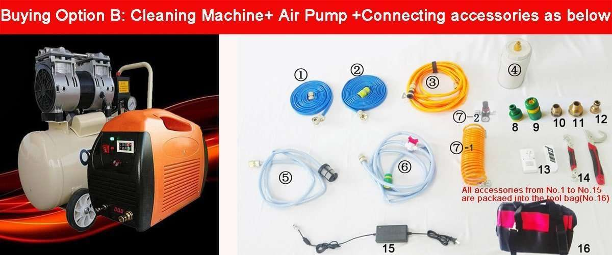 Water Pipe Cleaning Equipment,Descaling water pipe tool kit 2