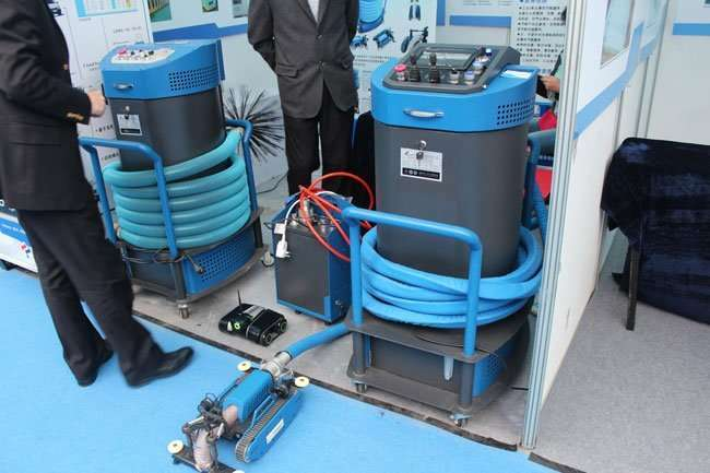 all in one duct robot in HVAC exhibition