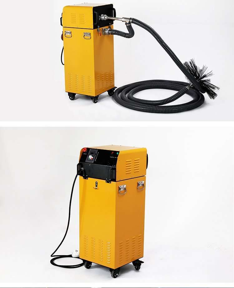 Rotary brush with dust vacuum extractor 2 in 1 air duct cleaning machine 30