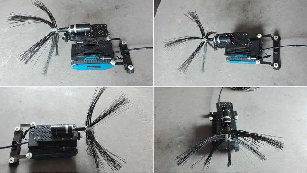 Duct Cleaning Robot For Circular Pipe And Rectangle Duct