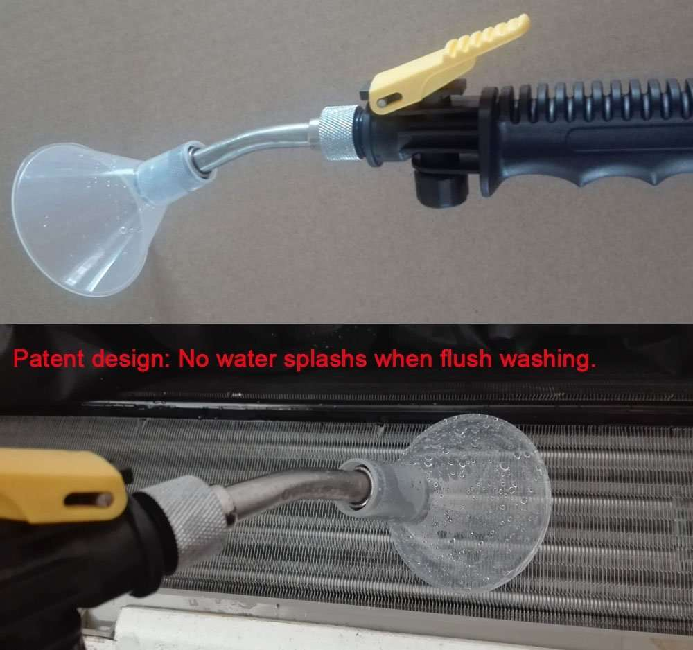 prevent water-splashing from flushing washing to air conditioner fins