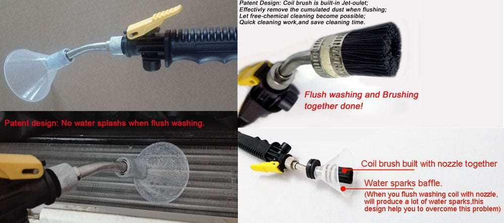 Special design for flush washing and brush cleaning together