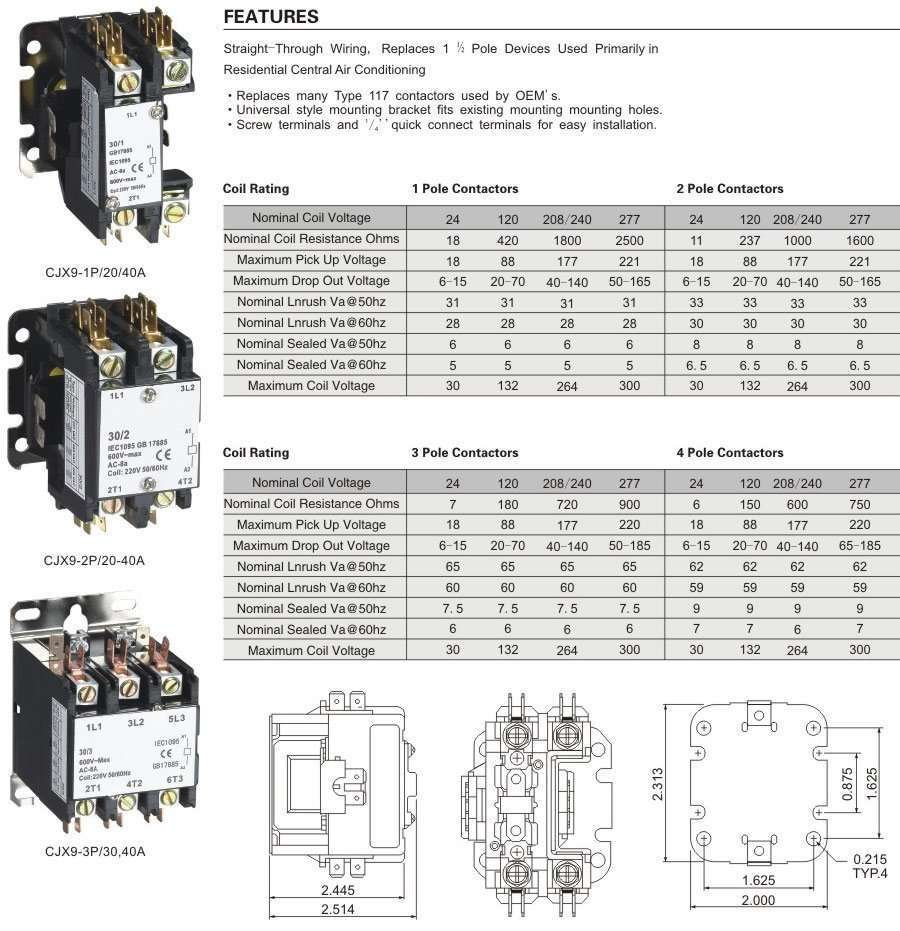 Definite Purpose Contactor 30 Amp Wiring Diagram Just Another Ac Library