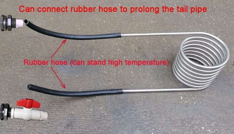 coil-heater-heater coil with-ruber-hose-extending