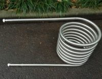heater coil for fired hot tub