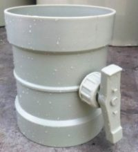 Plastic Butterfly Duct Damper valve