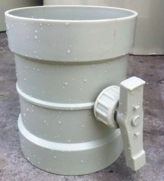 Plastic Butterfly Duct Damper valve