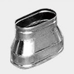 Oval reducer for ventilation pipe
