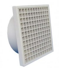 Square egg crate grille with round connector