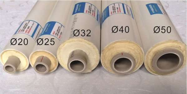 AC chilled water pipe size and models