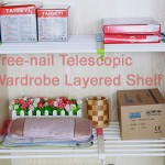 Free-nail Telescopic Wardrobe Layered Shelf 6