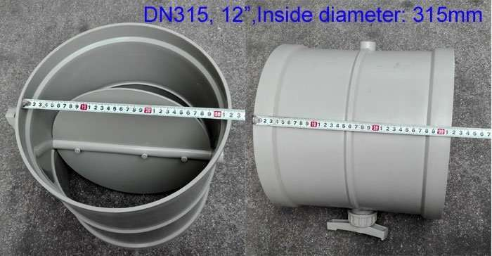 12inch-Polyproyhlene manual adjusted air damper