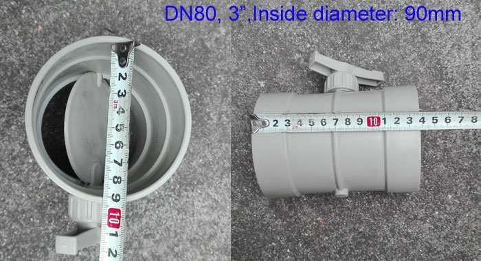3inch-plastic-butterfly damper by hand adjusting