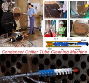 Chiller tube cleaning brush and rod,Spiral tube brush for condenser heat exchanger tube cleaner 5