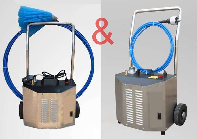 Flexible shaft cleaning machine